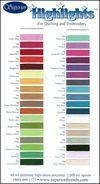 Highlights Colour Card
