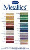 Metallics Colour Card