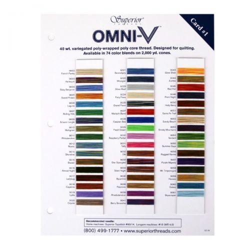 OMNI-V #1 Colour Card