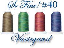 So Fine 40/3 Variegated